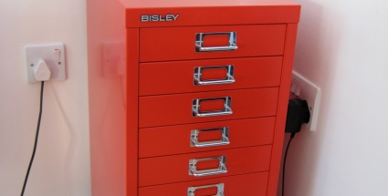 Red Filing Cabinet (photo)