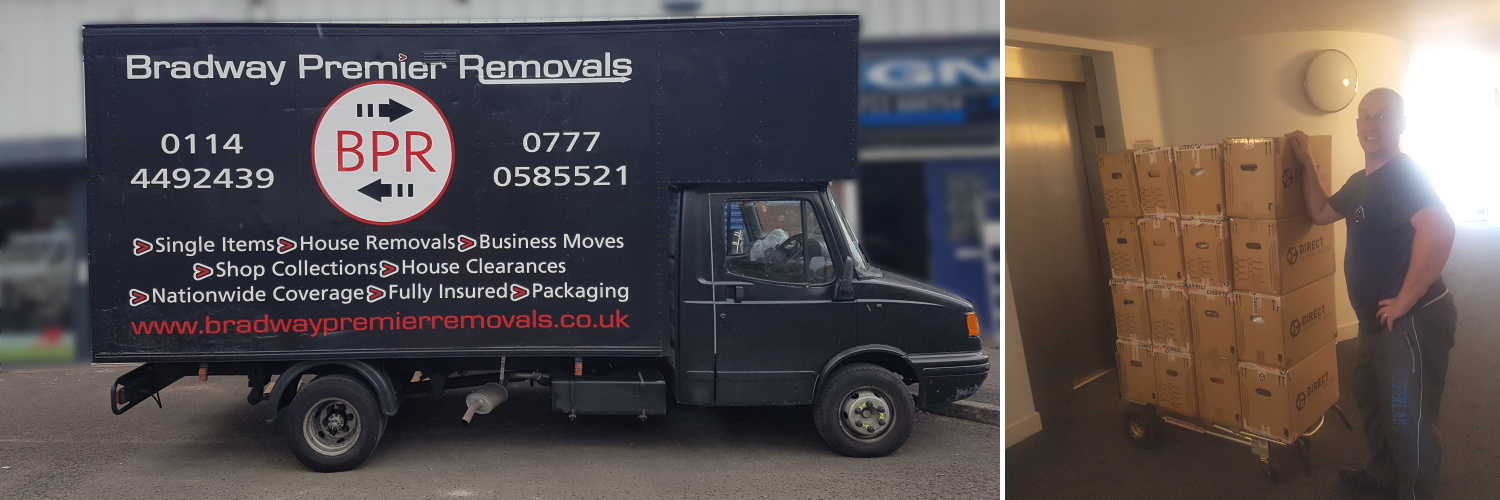 Man and Van Service in Sheffield, South Yorkshire (one of our Luton size vans)