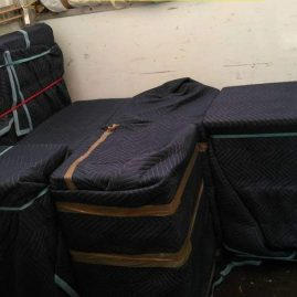 Thick quilted padded blankets - as used for protection during house moves by Bradway Premier Removals (Sheffield)